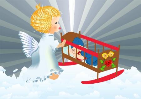 angelo custode: angelo custode Vettoriali