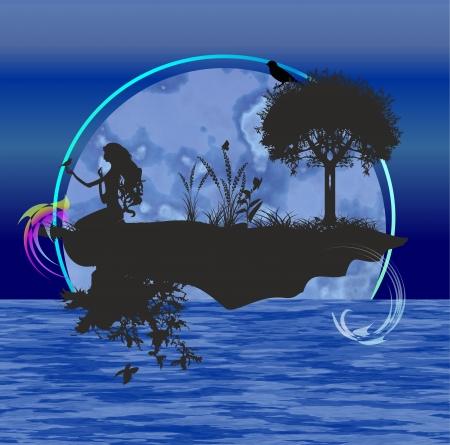 water nymph: island