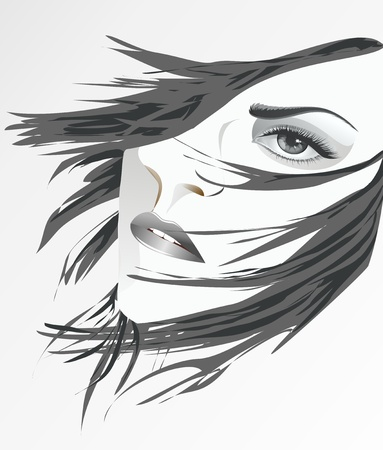 face of a woman Vector