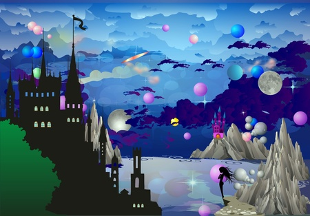 in the land of castles, Stock Vector - 22015103