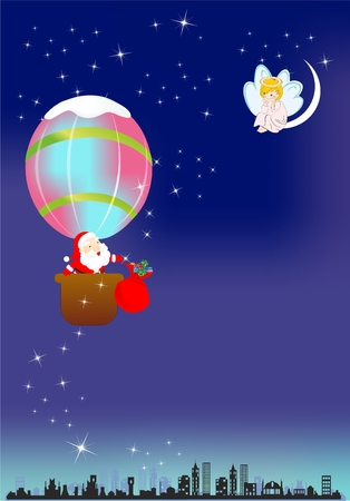 Santa Claus travel, Stock Vector - 22569946