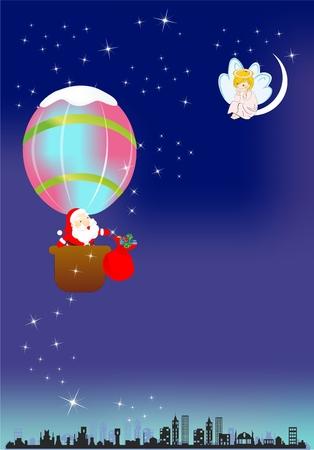 Santa Claus travel, Stock Vector - 22569946