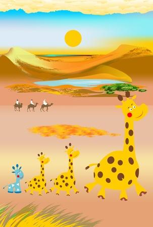 running camel: two caravans
