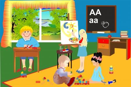 train table: In kindergarten