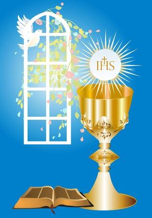 jesus christ communion: first communion,
