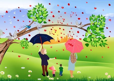 Rain of hearts, photo