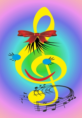 treble clef: treble clef, Illustration