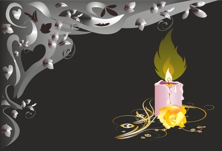 condolence: single candle