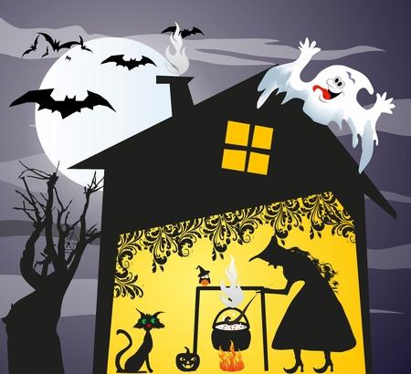 nights: halloween, Illustration