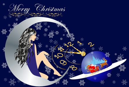 decotions for Christmas and New Year, Vector