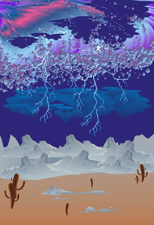 desert storm: storm in the desert, Illustration