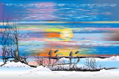 paysage d'hiver,