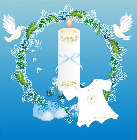 バプテスマ  イラスト・ベクター素材