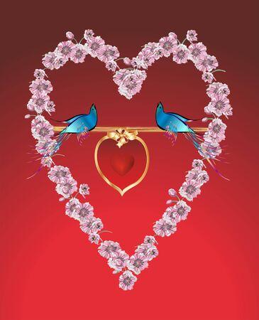 two hearts: two hearts illustration Illustration