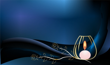 condolence: background with a candle Illustration