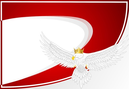 background with an eagle,