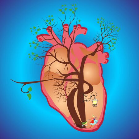 article of clothing: In the heart Stock Photo
