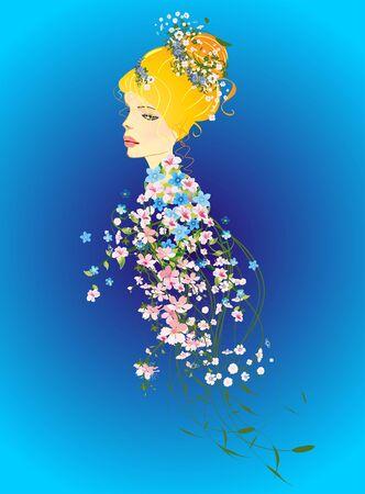 spring: Spring Lady Illustration