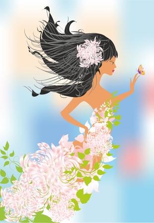 ms: Ms. spring Illustration