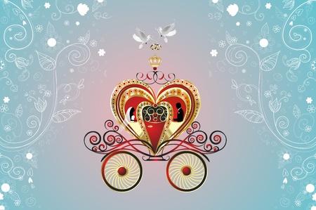 four of a kind: four of a kind wedding Illustration