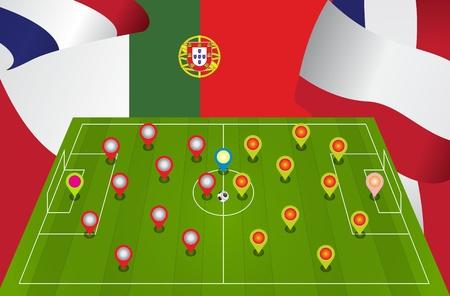 match: Poland Portugal match, Illustration