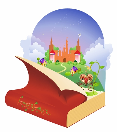 princes street: in the world of books and fairy tales Illustration