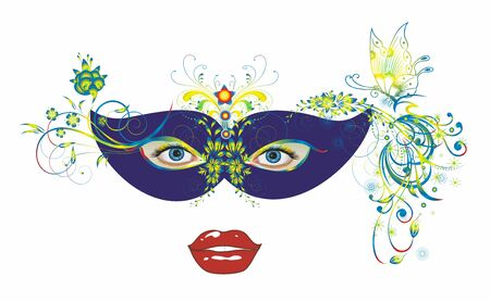 carnival mask and eyes