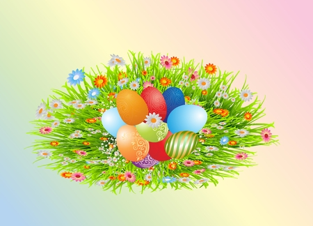 Easter decoration with Easter eggs