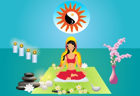 girl who meditates