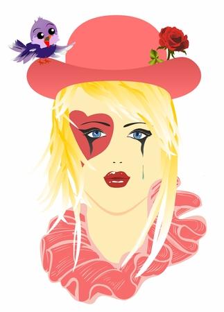 Sad Harlequin hat