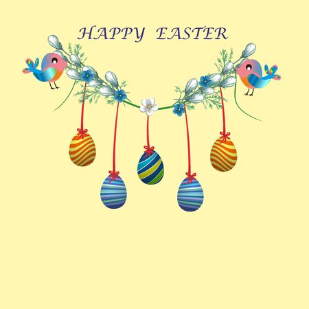 Easter decoration of eggs,