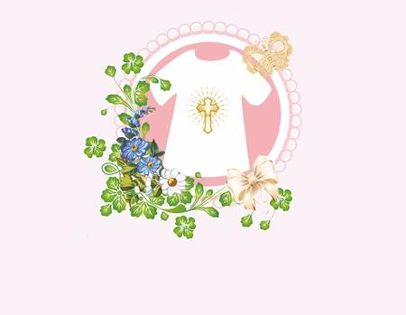 Composition for baptism pink,