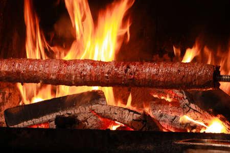 Turkish Kebab Doner. Traditional Turkish Food; Doner (Cag) Kebab (Kebap) Stock Photo