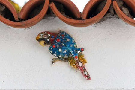 playthings: Parrot - kids toys. Wall hanging ornamental birds. Hanging decoration birds.