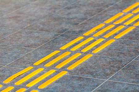 disablement: Blind way. Traffic route for blind peoples. Stock Photo