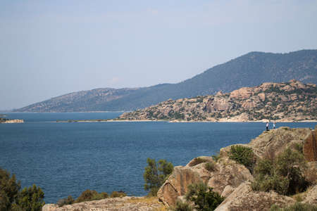 Salt Bafa Lake landscape with great nature - Mugla - Turkey. Latmos.