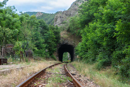 Tunnel for trains to pass through the mountains. Bulgaria.