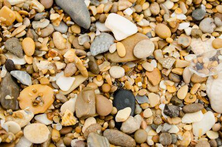 colores calidos: sea stones in warm colors