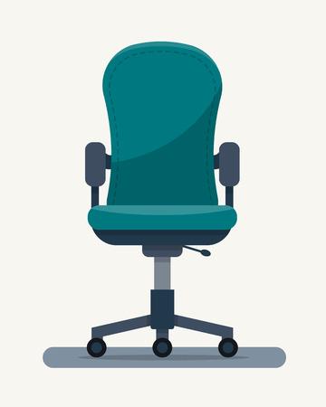 Chaise de bureau en milieu de travail en citant sur le papier. Flat illustration vectorielle de style.