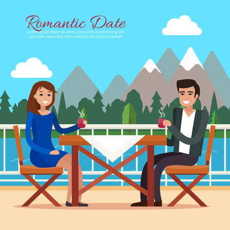 Couple on a date in restaurant.