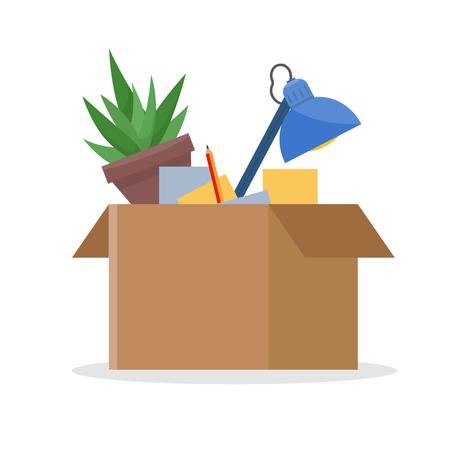 Office cardboard box Stock Vector - 77963766