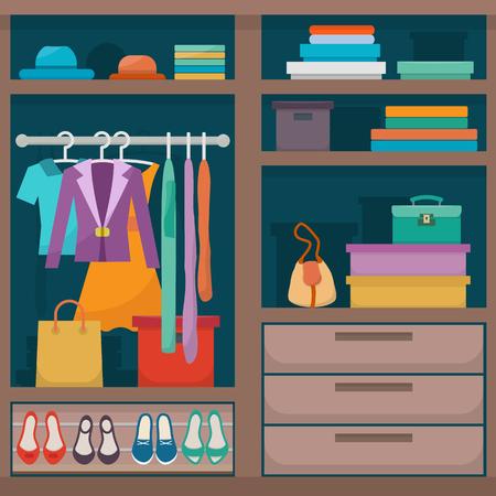 Armario con ropa Foto de archivo - 77966102