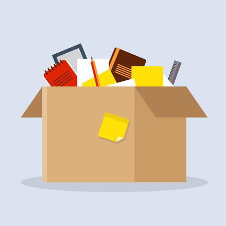 Office cardboard box 向量圖像