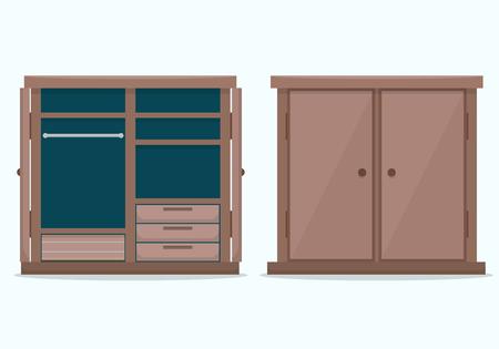 closet door: Closed cloths wardrobe.