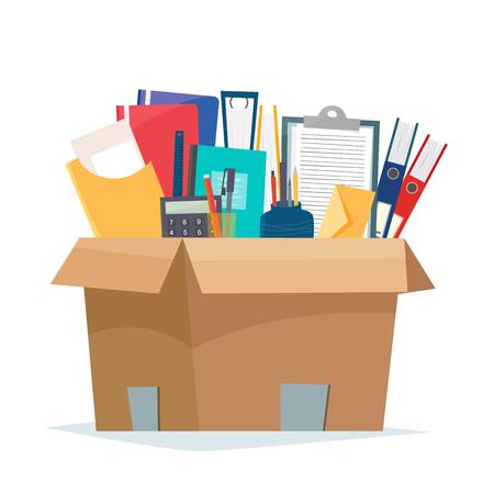 オフィス オブジェクトを含むボックス。