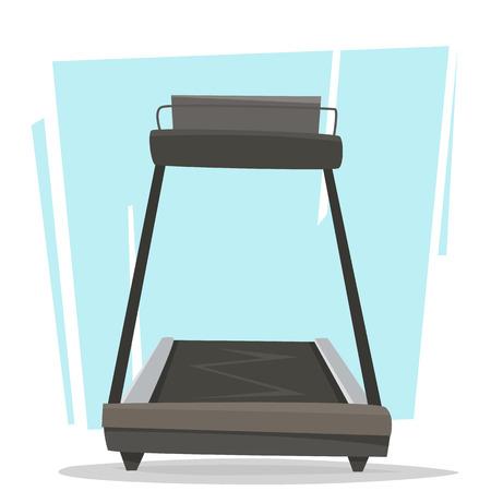 Running treadmill in gym.