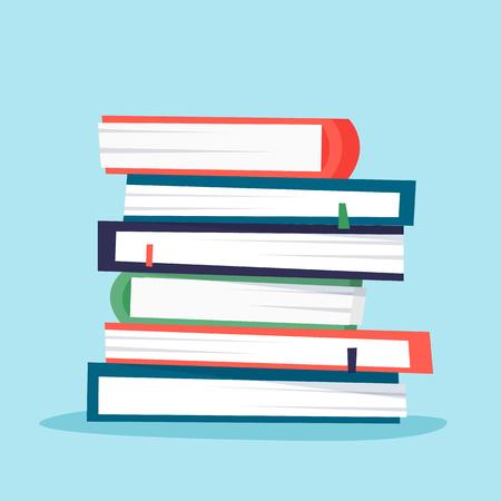 Pile of books. Stock Illustratie