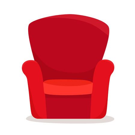 Single soft armchair. Flat style vector illustration.