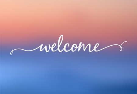 Blurred background with welcome letter. Vector illustration Illusztráció