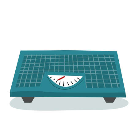 Weight scales. Flat style vector illustration.